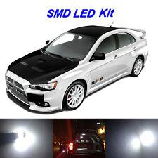 6 x White LED Interior Bulbs + License Plate Lights For 2008-2016 Lancer EVO X