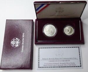 1998-S Kennedy Collector's Set - Silver Dollar and Rare Matte Half - OGP & COA!