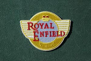 Royal Enfield Tank Iron/Sew On Patch Biker Rocker Ton Up Boys No1182