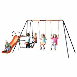 Hedstrom Europa Double Swing, Glider and Slide Outdoor Garden Play Area