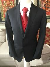 Zegna City Navy Blue Jacket 40in Chest