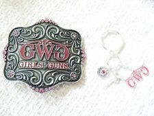 Montana Silversmith Girls with Guns Buckle and key chain