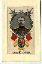 (Lc3221-450) WWI Woven Silk Postcard, Lord Kitchener, c1914-18 Unused
