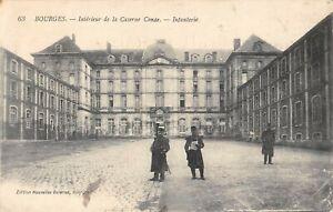 CPA 18 BOURGES INTERIEUR DE LA CASERNE CONDE INFANTERIE