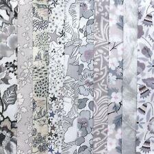 "10 Liberty Tana Lawn fabric pieces, each minimum 5"" x 5"" - *MOONLIGHT*"