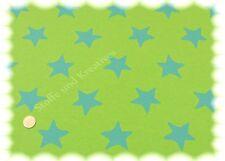 Jaquard Sterne grün Sweat Strick 195 cm breit 50 cm Sternenstoff Strickstoff
