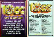 3 X 10CC TOUR FLYERS - 2011 & 2013