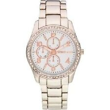 Spirit Women's Quartz Watch White Dial Analogue Display Silver Bracelet ASPL64
