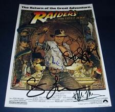 INDIANA JONES RAIDERS OF LOST ARK PP SIGNED POSTER 12X8