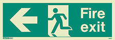 Jalite Photoluminescent Emergency Exit Sign Left Arrow