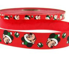 "10 Yds Christmas Licensed Disney Minnie Mouse Red Acetate Ribbon 1""W"
