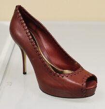 $650 New GUCCI Sofia Hand-Stitched Leather Platform Pumps SHOES 38.5/8.5 264984