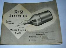 VINTAGE E-Z STITCHER INSTRUCTION MANUAL