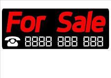 2 X FOR SALE STICKERS For Car Caravan Trailer Truck Van Boat,
