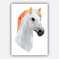 Art PRINT GEOMETRIC ANIMAL FOREST collection ORANGE & GREY Poster Wall 3 for 2