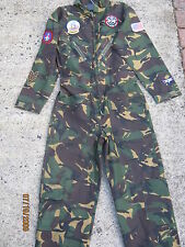 Kids Army Camouflage Flying Suit With Badges