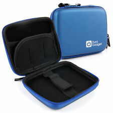 Blue Hard Case With Dual Zip For Garmin Nuvi 2200T, 1250T, 30, 1200, 2240