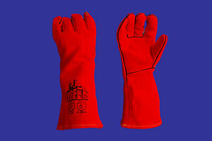 6pr x leather welding gloves, lined, made with kevlar stitching size: mens (XL).
