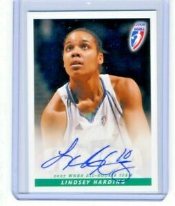 Lindsey Harding 2008 WNBA Rittenhouse Archives Certified On Card Autograph Auto