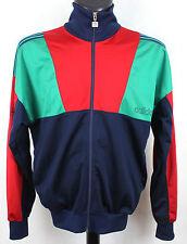 De Colección Adidas ventex Azul/Verde/Rojo Vieja Escuela Chándal Chaqueta L 42-44