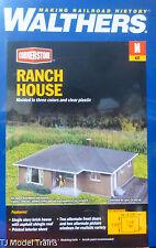 "Walthers N #933-3838 Brick Ranch House -- Kit - 3-1/16 x 2-9/32 x 1-1/4"" (Kit)"