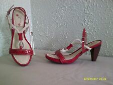 Blondo Canada --  Red Leather Strappy Sandal ----  7 M