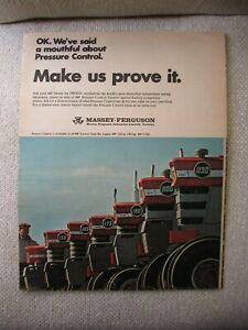Massey Ferguson MF 150 165 175 180 1100 1130 tractor print AD 4 pages