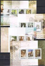Nederland 2751-D46/49 4 velletjes zoogdieren uit alle windstreken