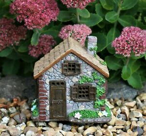 Solar Garden Ornament Fairy House Pixie Lawn Secret Garden Gift Patio Outdoor