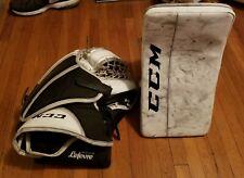 CCM 550 SR Blocker (RH) Goalie Glove (LH) Size SR Lelevre