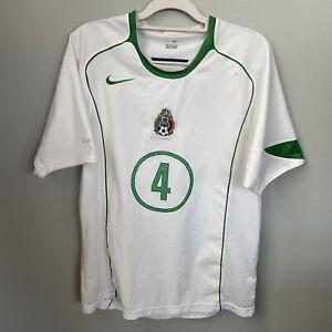 Nike Mexico 2005 White Away Jersey shirt #4 Rafael Marquez size M some flaws