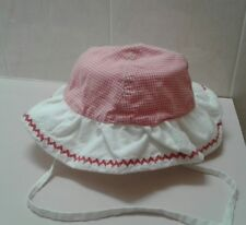 NEW RALPH LAUREN POLO Designer Baby Girl Sun Hat Sz 0-12M