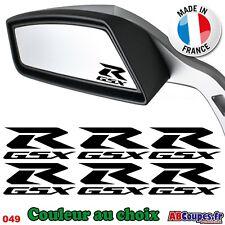 6 Stickers GSX-R pour Retroviseurs ou Casque - Retro Suzuki GSXR 750 1000 - 049