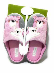 De Fonseca TORINO I G548 Rosa Pantofole Bambina Orsacchiotto