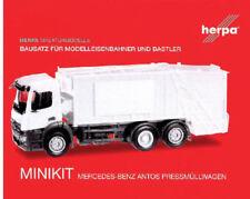 HERPA MiniKit 1:87 Mercedes-Benz Antos Pressmüllwagen, weiß Bausatz 012928 NEU