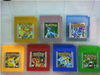 Pokemon For Game Boy Series Nintendo GBC Gold,Silver, Blue, Red, ESP/Eng 16 bit