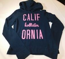 Hollister California Women's Junior's Hoodie Sweat Shirt XS xsmall navy EUC--