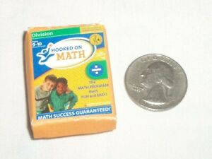 Dollhouse Miniature Toy Learning Set Hooked On Phonics Math Division Box