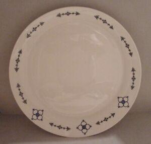 großer Servierteller flach 27 cm Konfektschale Porzellan Indischblau rar 2. Wahl