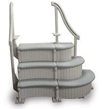 Confer Plastics CCX-IG-2 Grey Curve Complete Inground Swimming Pool Step System