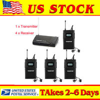 WPM-200 In-Ear Stereo Stage Wireless Monitor System 1 Transmitter + 4 Receivers