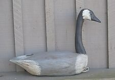 Hunting Decoy Canadian Goose w Glass Eyes Man Cave Classic Hand Carved Wooden