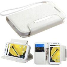 Étuis, housses et coques blancs Motorola Moto E pour téléphone mobile et assistant personnel (PDA) Motorola