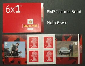 PM72 ... 2020 James Bond Self Adhesive ... Plain Book