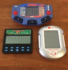 Lot Of 3 Handheld Games Tiger Jeopardy Radica Blackjack 21 Sudoku