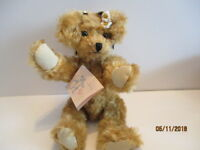 "Artist Hand Made OOAK Mohair Brown""Sunny""Plush Stuffed Bear Movable Arms & Legs"