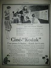 PUBLICITE DE PRESSE KODAK CINE-KODAK PROJECTEUR CINEMATOGRAPHIQUE FRENCH AD 1927