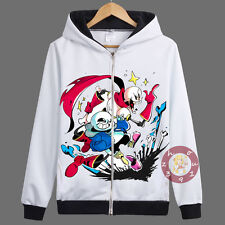 Anime Undertale Sans/Papyrus Zipper Jacket Cosplay Hoodie Unisex Coat#VH-1-70