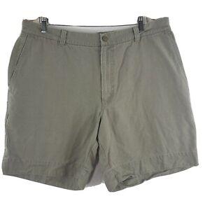 COLUMBIA xco Olive Khaki Heavy Flat Front Cargo Hiking Shorts Men's Size 38