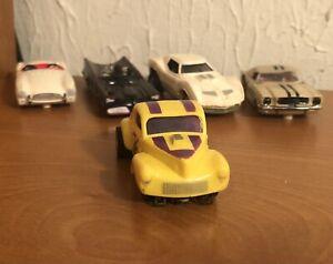 VTG Aurora TJet #1474 Tuff Ones '41 Willys Gasser C/G Yellow w/Purple Stripes